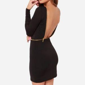 Lulu's Backless Zipper Dress